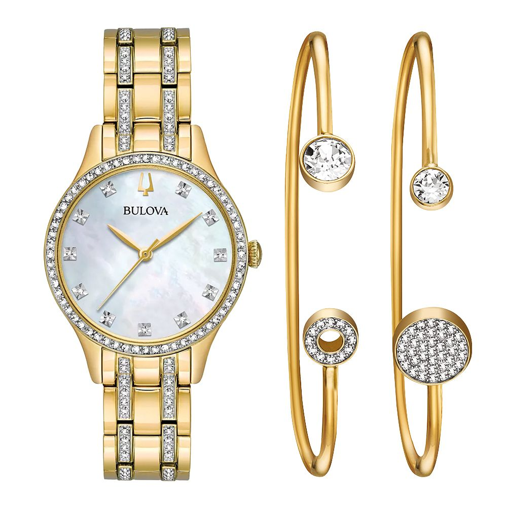 Bulova Ladies' Swarovski® Crystal Watch & Bangles Set - Product number 9795715