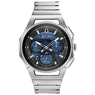 Bulova Men's Curv Stainless Steel Chronograph Watch - Product number 9795731