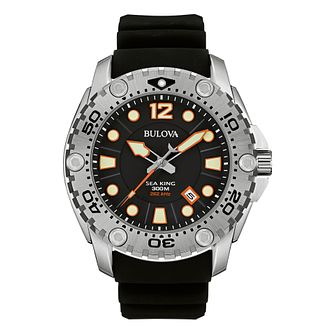 Bulova Men's Classic Sea King UHF Black Rubber Strap Watch - Product number 9795766