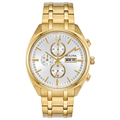 Bulova Men's Classic Surveyor Gold-Tone Steel Watch - Product number 9795774