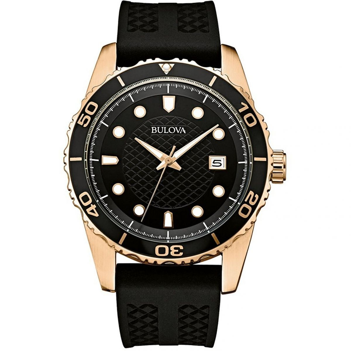 Bulova Men's Classic Sports Black Silicone Strap Watch - Product number 9795790