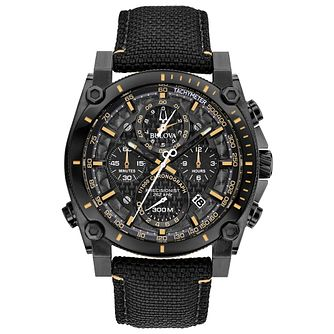 Bulova Men's Precisionist Nylon Black Strap Watch - Product number 9795812