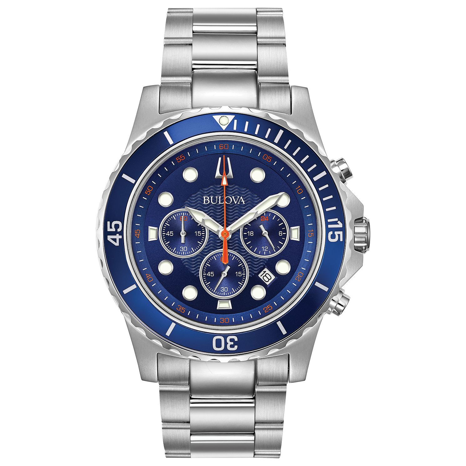Bulova Men's Classic Blue Dial Bracelet Watch - Product number 9795839