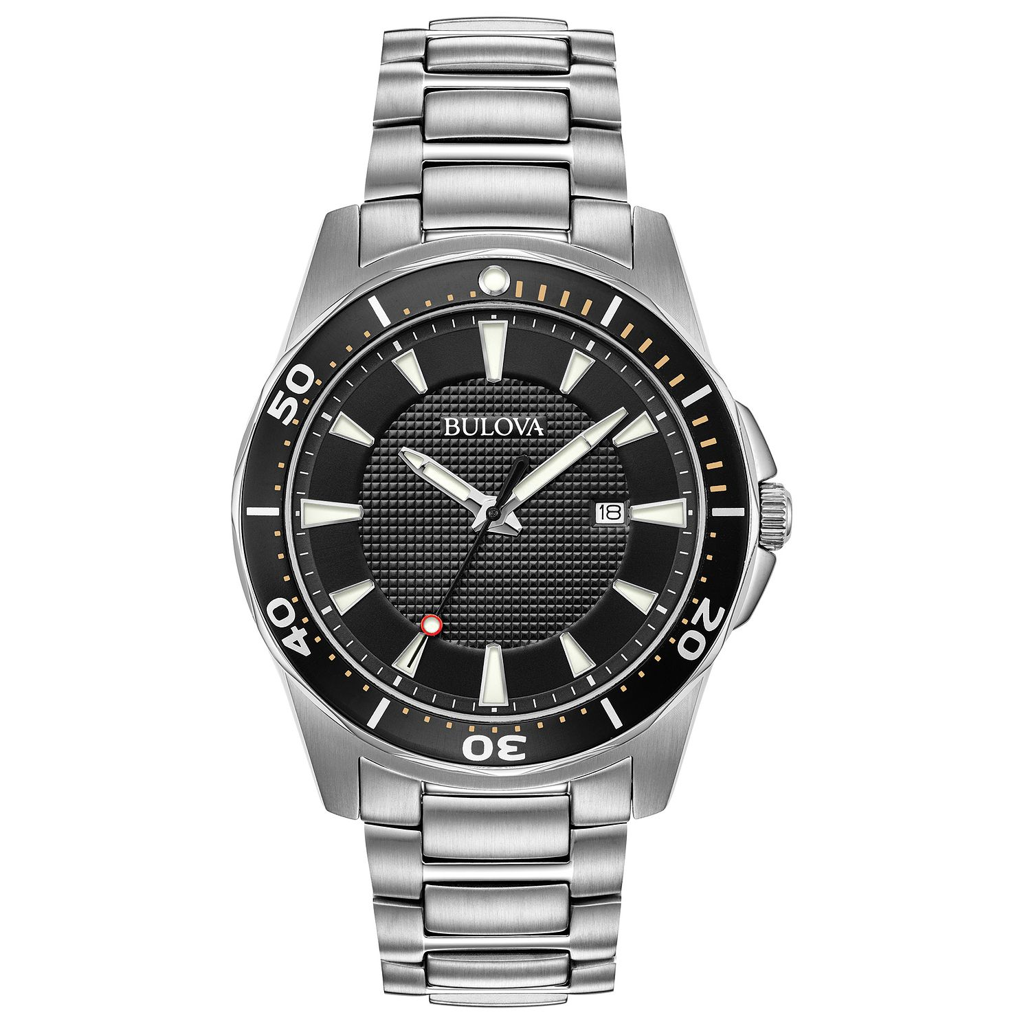 Bulova Men's Classic Silver Stainless Steel Bracelet Watch - Product number 9795847