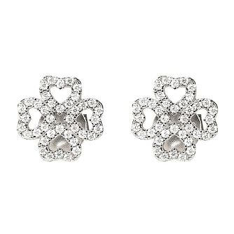 Folli Follie Ladies' Heart Cubic Zirconia Stud Earrings - Product number 9796711