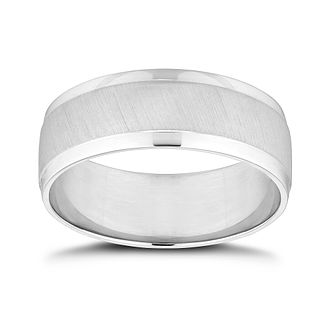 Platinum 7mm Matt & Polished Wedding Band - Product number 9797785