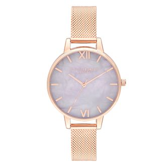Olivia Burton Semi Precious Rose Gold Tone Bracelet Watch - Product number 9798994