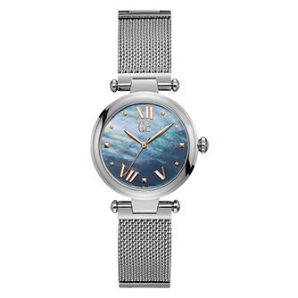 Gc Ladies' Stainless Steel Mesh Bracelet Watch - Product number 9800352