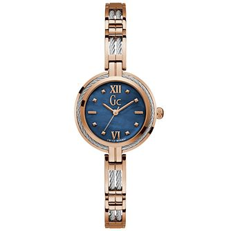 Gc Ladies' Stainless Steel Blue Dial Bracelet Watch - Product number 9800360