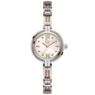 Gc Ladies' Stainless Steel White Dial Bracelet Watch - Product number 9800379