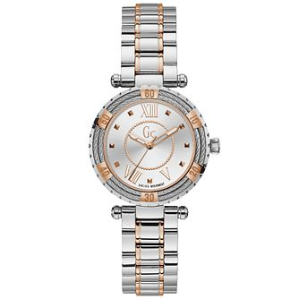 Gc LadyDiver Cable Two-Tone Stainless Steel Bracelet Watch - Product number 9800387
