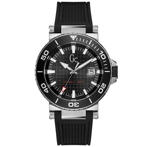 Gc Men's Black Silicone Strap Watch - Product number 9800425