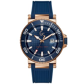Gc Men's Blue Silicone Strap Watch - Product number 9800433
