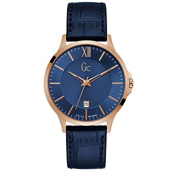 Gc Ladies' Blue Leather Strap Watch - Product number 9800476