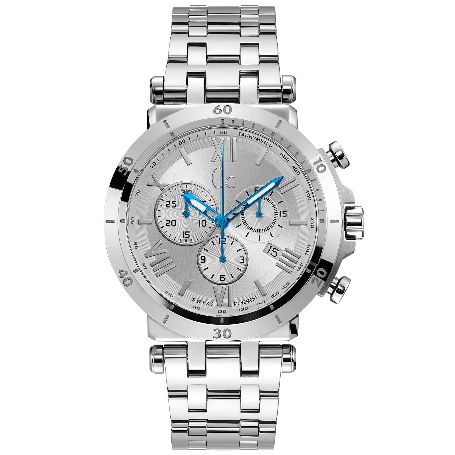 Gc Men's Stainless Steel Silver Bracelet Watch - Product number 9800492