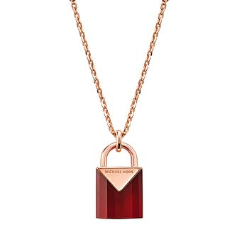 Michael Kors 14ct Rose Gold Plated Kors Colour Pendant - Product number 9800719