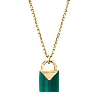 Michael Kors 14ct Gold Plated Kors Colour Agate Pendant - Product number 9800735