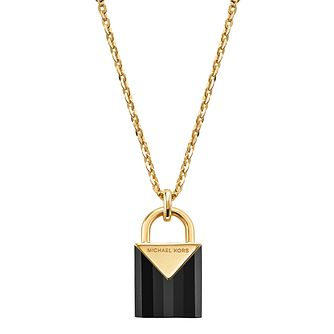 Michael Kors 14ct Gold Plated Kors Colour Onyx Pendant - Product number 9800808