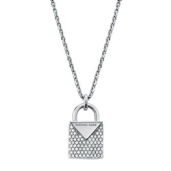 Michael Kors Sterling Silver Kors Colour Pave Pendant - Product number 9800816