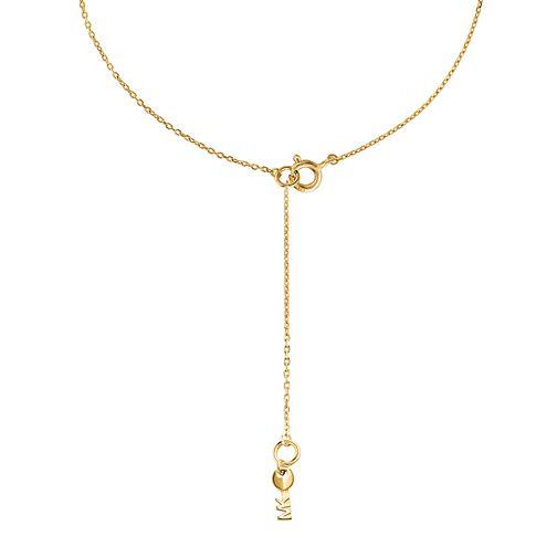 014d53b4db167 Michael Kors 14ct Gold Plated Silver Custom Kors Pendant MKC1108AN710 -  Ernest Jones