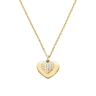 Michael Kors 14ct Gold Plated Silver Kors Love Heart Pendant - Product number 9800964