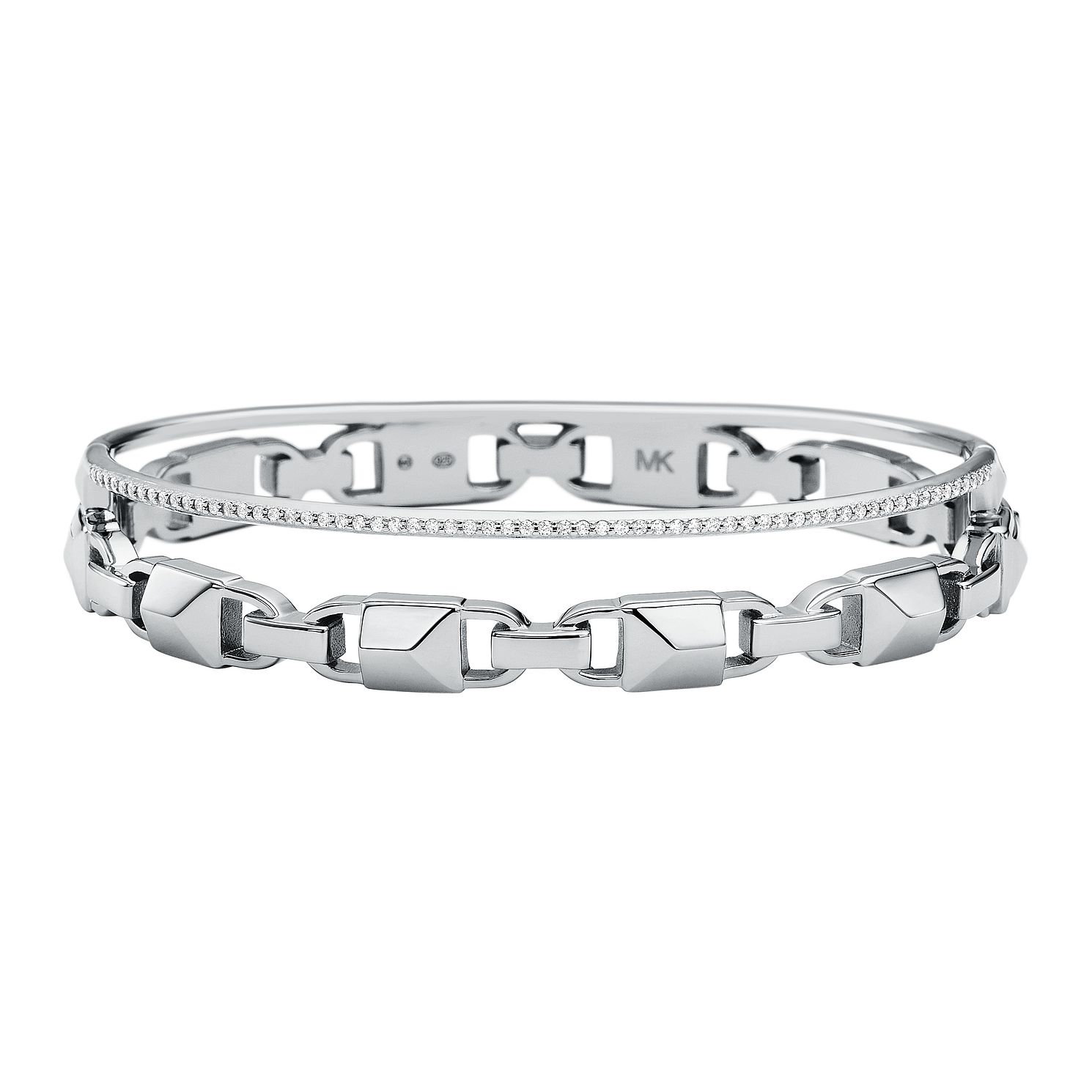 Michael Kors Sterling Silver Mercer Link Bangle - Product number 9800980