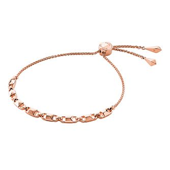 Michael Kors 14ct Rose Gold Plated Mercer Link Bracelet - Product number 9801049