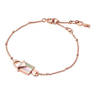 Michael Kors 14ct Rose Gold Plated Kors Colour Bracelet - Product number 9801065