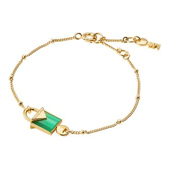 Michael Kors 14ct Gold Plated Kors Colour Agate Bracelet - Product number 9801103
