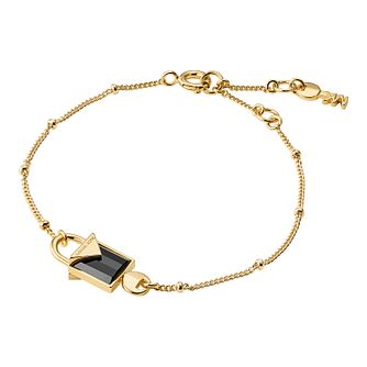 Michael Kors 14ct Gold Plated Kors Colour Onyx Bracelet - Product number 9801111
