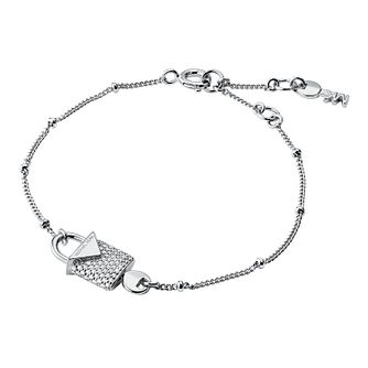 Michael Kors Sterling Silver Kors Colour Pave Bracelet - Product number 9801162