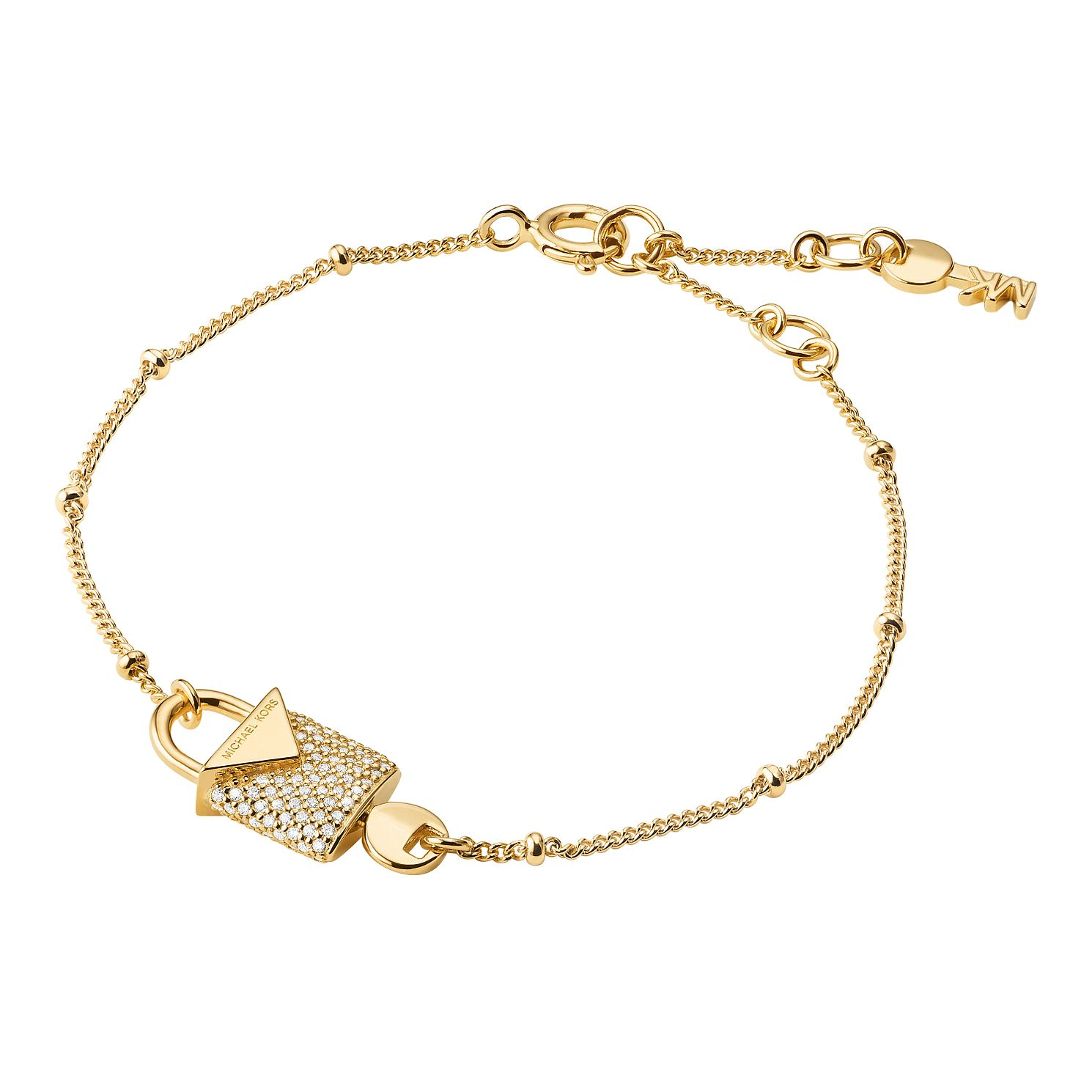 Michael Kors 14ct Yellow Gold Plated Silver Pave Bracelet - Product number 9801170