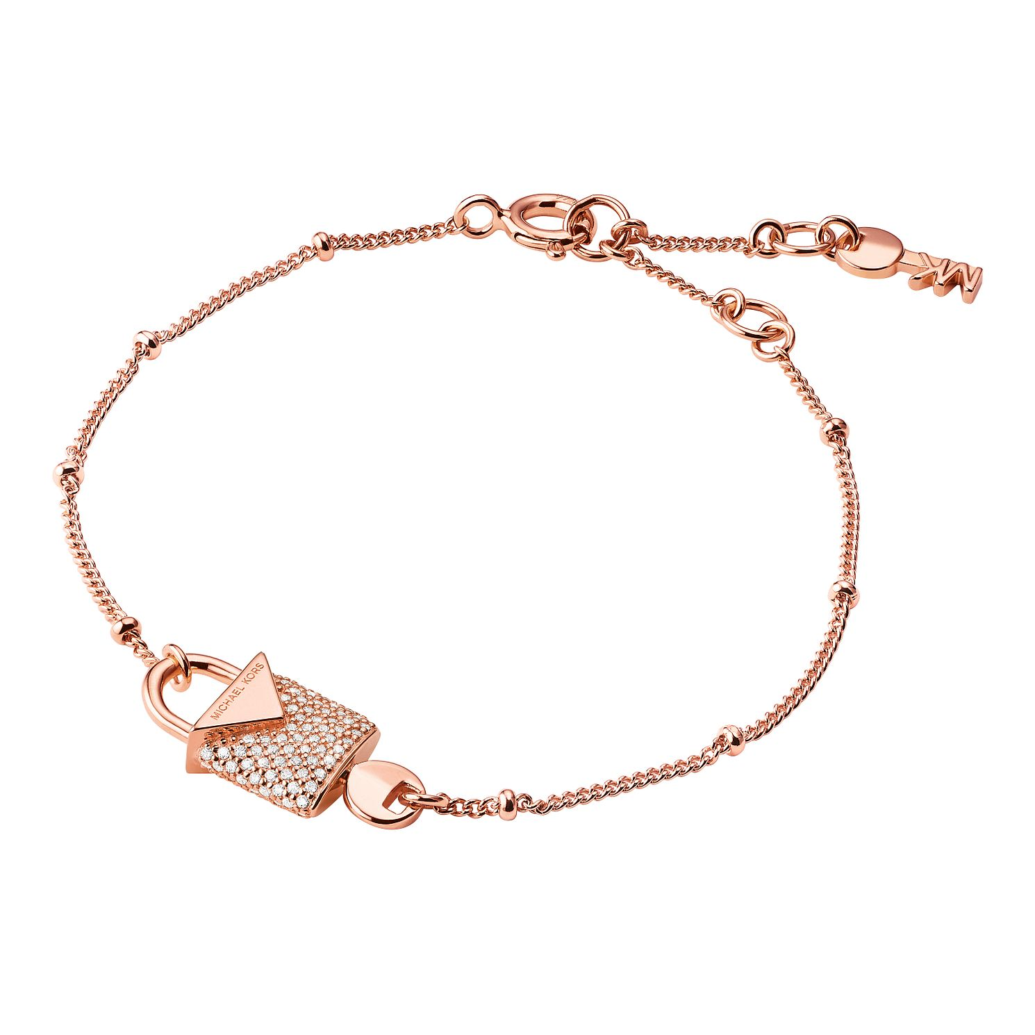 Michael Kors 14ct Rose Gold Plated Kors Colour Bracelet - Product number 9801189