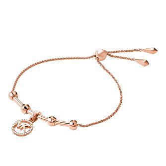 7ddbc1e4ac364 Michael Kors 14ct Rose Gold Plated Custom Kors Bracelet - Product number  9801227