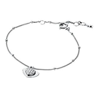 Michael Kors Sterling Silver Kors Love Heart Bracelet - Product number 9801278