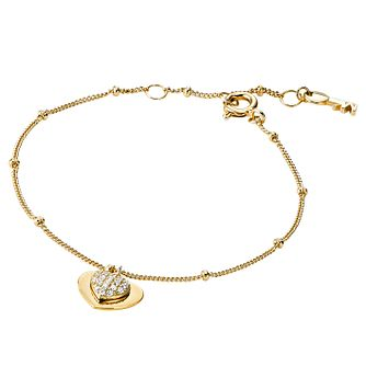 ca32b7cb653a Michael Kors 14ct Gold Plated Silver Kors Love Bracelet - Product number  9801286