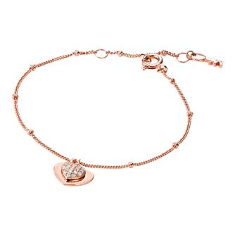 Michael Kors 14ct Rose Gold Plated Silver Kors Love Bracelet - Product number 9801294