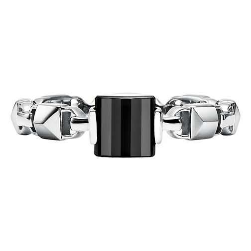 Michael Kors Sterling Silver Mercer Link Onyx Ring - Product number 9801332