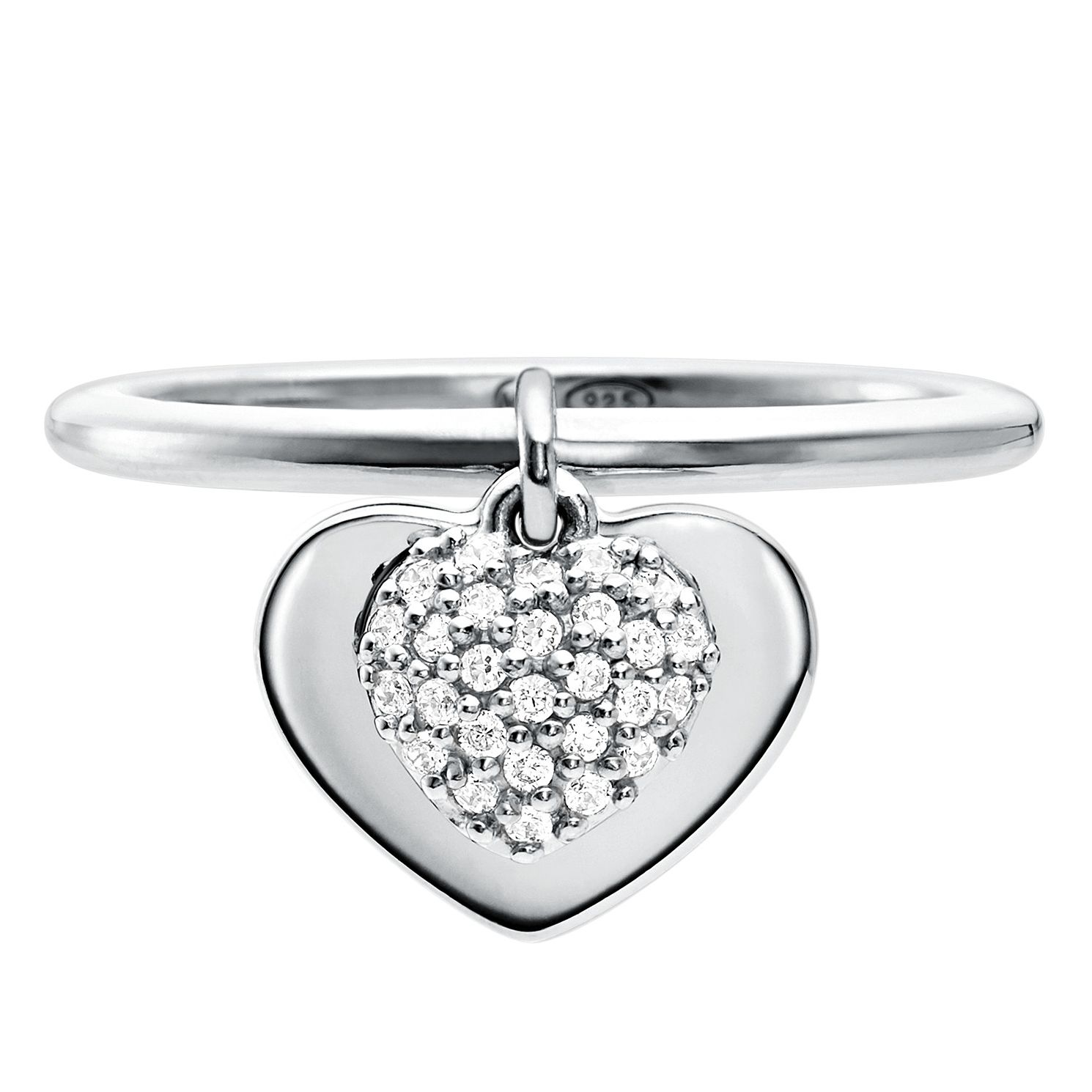 Michael Kors Sterling Silver Kors Love Heart Ring - Product number 9801383