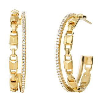 Michael Kors 14ct Gold Plated Silver Mercer Link Earrings - Product number 9801480
