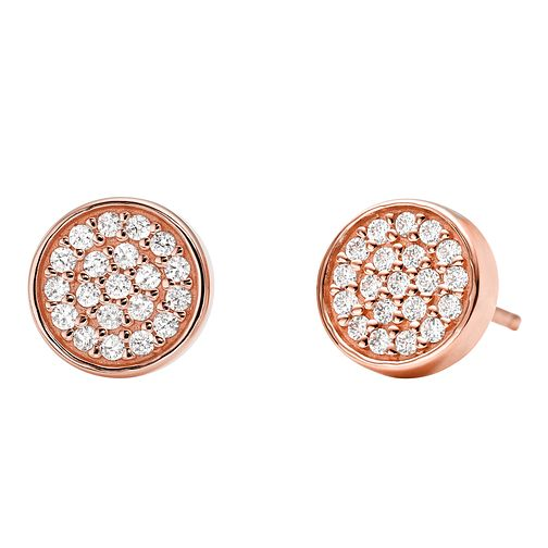 Michael Kors 14ct Rose Gold Plated Silver Stud Earrings - Product number 9801596