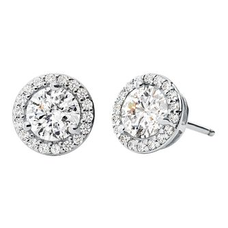 Michael Kors Sterling Silver Halo Stud Earrings - Product number 9801618