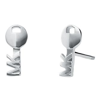 Michael Kors Sterling Silver Key Stud Earrings - Product number 9801715