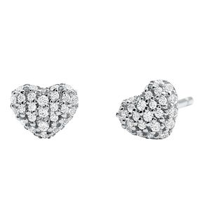 Michael Kors Sterling Silver Heart Stud Earrings - Product number 9801758