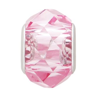 Charmed Memories Sterling Silver Pink Faceted Crystal Bead - Product number 9802576