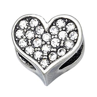 Charmed Memories Sterling Silver Crystal Heart Bead - Product number 9802940