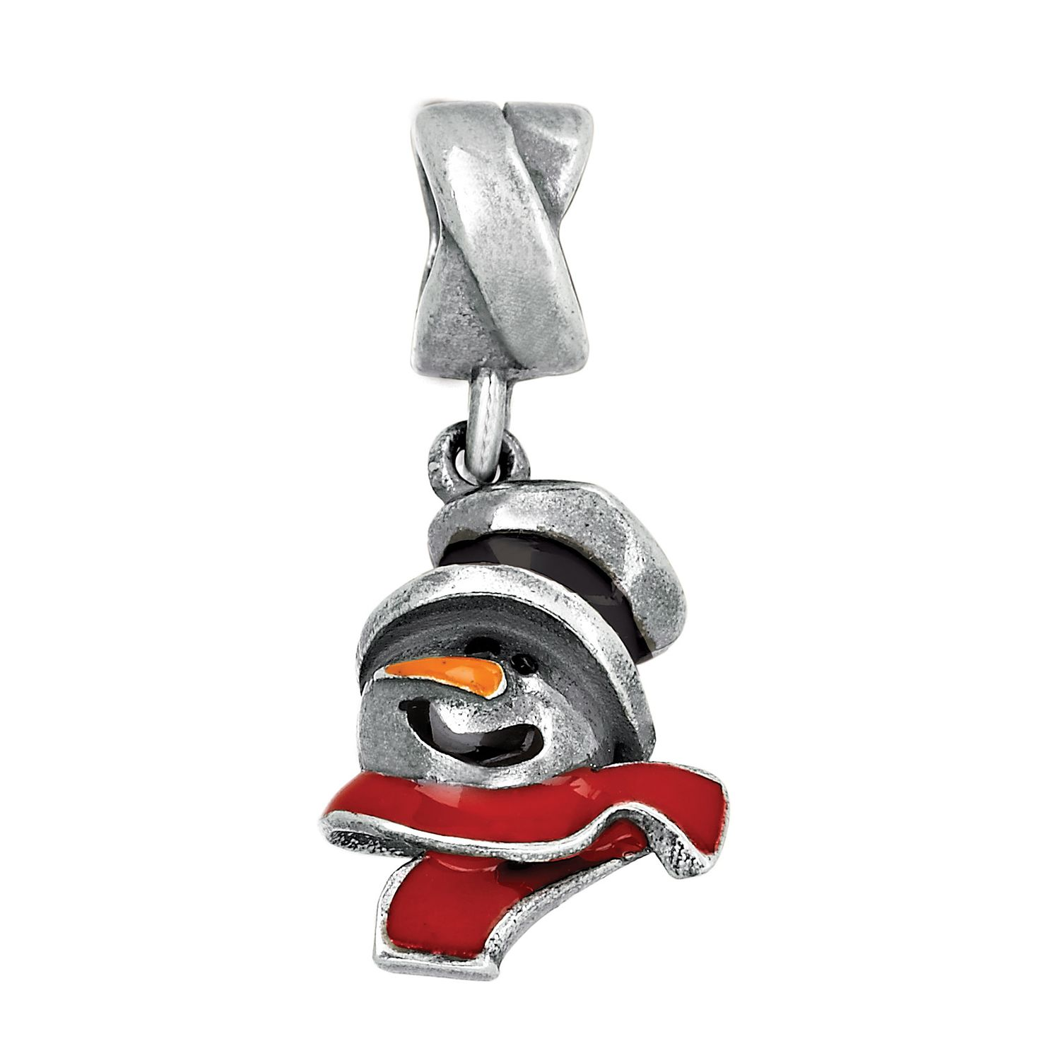 Charmed Memories Sterling Silver Snowman Charm Bead - Product number 9803068