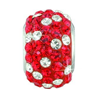 Charmed Memories Red & White Crystal Bead - Product number 9803203