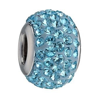 Charmed Memories Light Blue Crystal Bead - Product number 9803289