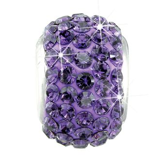 Charmed Memories Sterling Silver Dark Purple Crystal Bead - Product number 9803319